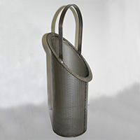 Perforated metal and wire mesh basket strainers